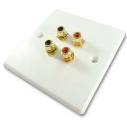Twin RCA Wall Plate - Quick Connect No Soldering | Cables4all